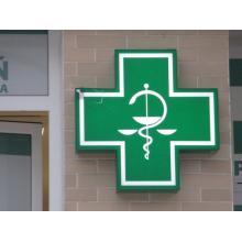 Lekárenský kríž - svetelný
