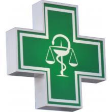 Lekárenský kríž - obojstranná svetelná reklama